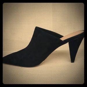 Aldo  Size 9 black suede mules!